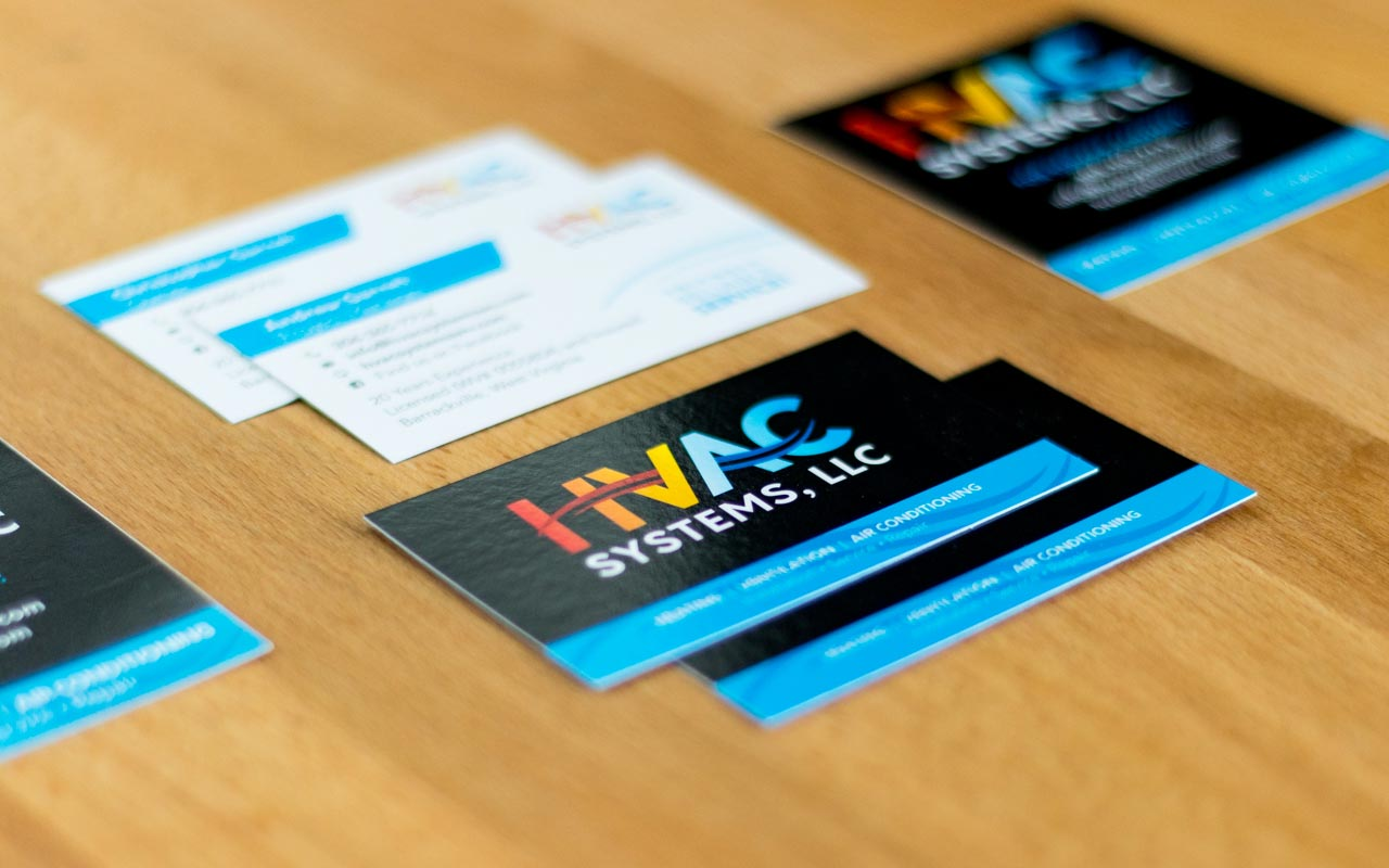 Hvac Logos Business Cards Images - Card Design And Card Template